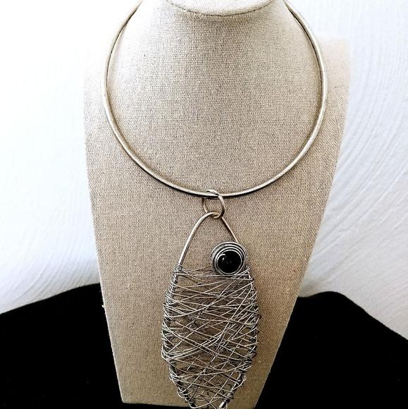 Jewelry | Giant Fish Choker Necklace Wire Art Statement | Poshmark